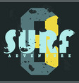 surf t-shirt graphics vintage typography t-shirt vector image