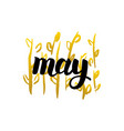 may handwritten lettering vector image