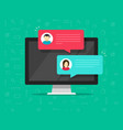 computer online chat flat vector image