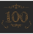 Anniversary 100th signs vector image