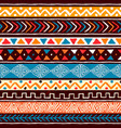 abstract african art tribal seamless pattern vector image vector image