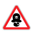 attention pirate red warning sign rover caution vector image vector image