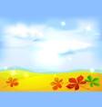 autumn landscape background vector image vector image