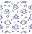 baby ufo aliens outline style cartoon pattern vector image vector image
