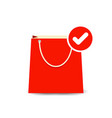 bag buy check paper shopping icon vector image vector image