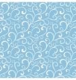 blue white organic swirls winter frost vector image vector image