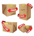 Boxes With Delivery Symbols vector image vector image