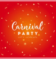carnival party concept vector image