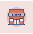 Cinema building flat icon vector image