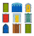 classic doors collection vintage and modern style vector image vector image