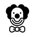 clown solid vector image
