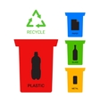 Colored recycle containers ecological vector image vector image
