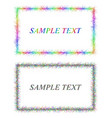 Colorful and black sketch card frame designs vector image vector image