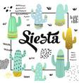 cute cactuses design childish background vector image