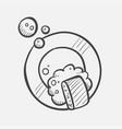 dish washing hand drawn sketch icon vector image