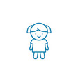 doll linear icon concept doll line sign vector image