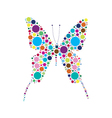 dotted butterfly vector image vector image