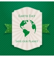 Earth Day big paper Banner vector image