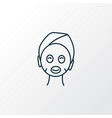 face mask icon line symbol premium quality vector image