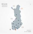finland infographic map vector image
