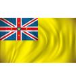 Flag of Niue vector image vector image