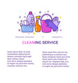 flat design logo for cleaning service isolated on vector image