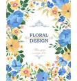 floral frame pattern flower border background vector image vector image