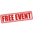 free event stamp vector image