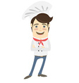 Funny chef standing with his arms folded vector image