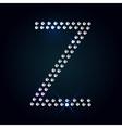 Gems Z letter Shiny diamond font vector image vector image