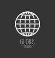 Globe sign business logo vector image vector image