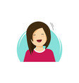 happy girl flat cartoon vector image vector image