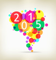 happy new year background colorful vector image vector image