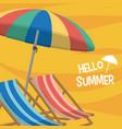 hello sumer card vector image vector image