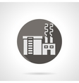 Industrial building factory round flat icon vector image vector image