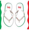 italian flip flops vector image vector image