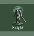knight armor sword vector image vector image