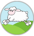 landscape background with cartoon sheep vector image