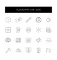 line icons set blockchain pack vector image vector image