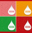 many water drops on different color background vector image vector image