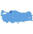 Map of Turkey Zonguldak vector image vector image