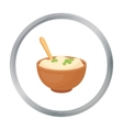Mashed potatoes icon in cartoon style isolated on vector image vector image