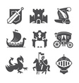 Medieval Symbols Collection vector image