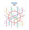 metro map city transportation scheme vector image vector image