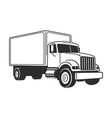 moving truck delivery truck commercial vehicle vector image
