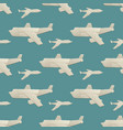 origami logistic paper plane transport seamless vector image vector image