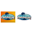 Paradise Sign vector image vector image