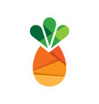 pineapple fruit logo template vector image