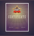 Premium quality certificate vector image vector image