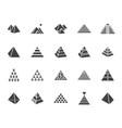 pyramid flat glyph icon set egyptian monument vector image
